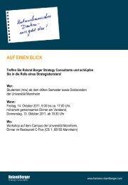 AUF EINEN BLICK Treffen Sie Roland Berger Strategy Consultants ...