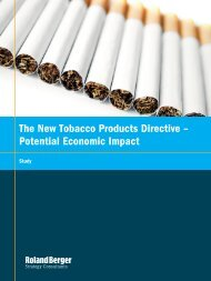 The New Tobacco Products Directive – Potential ... - Roland Berger