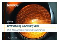 Restructuring in Germany 2008 Restructuring in ... - Roland Berger