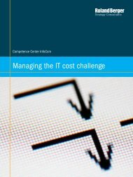 Managing the IT cost challenge - Roland Berger