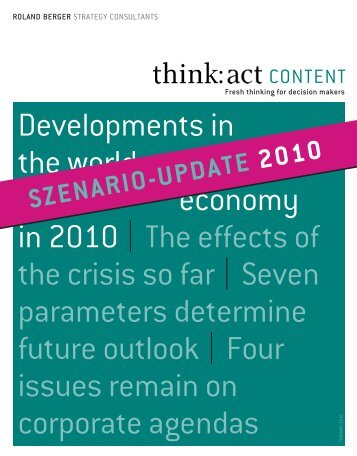 "think: act CONTENT ""Crisis scenario update"" - Roland Berger"
