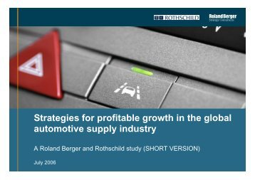 Strategies for profitable growth in the global ... - Roland Berger