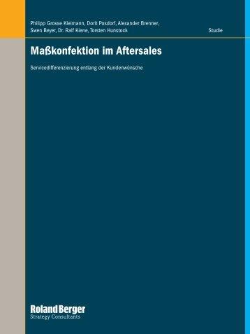 Masskonfektion im Aftersales - Roland Berger
