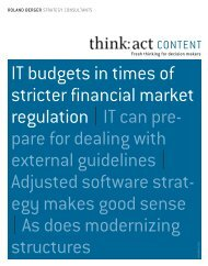 IT budgets in times of stricter financial market ... - Roland Berger