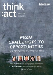 FROM CHALLENGES TO OPPORTUNITIES - Roland Berger