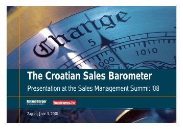 The Croatian Sales Barometer 2008 - Roland Berger