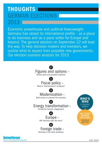 THOUGHTS – German Elections 2013 (PDF, 985 KB) - Roland Berger