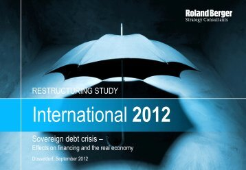 International Restructuring Study 2012 - Roland Berger Strategy ...