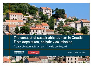 Sustainable tourism in Croatia and beyond - Roland Berger