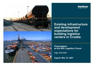 Croatia as regional logistics hub - Roland Berger