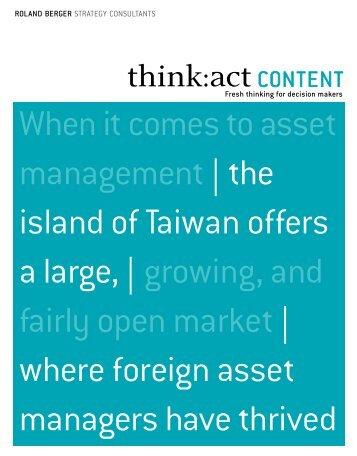 Asset management in Taiwan - Roland Berger