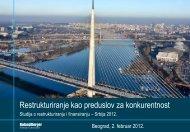 Studija o restrukturiranju i finansiranju – Srbija 2012. - Roland Berger
