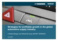 Strategies for profitable growth in the global automotive supply ...
