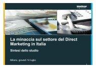 La minaccia sul settore del Direct Marketing in Italia - Roland Berger