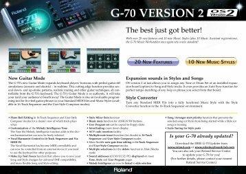 G-70 VERSION 2 - Roland Keyboard Club