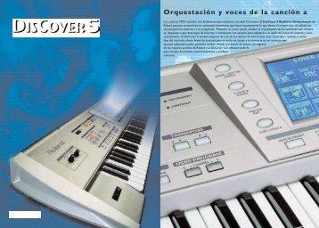 DisCover5 Cata.Sp - Roland Keyboard Club