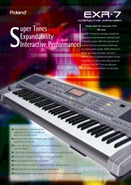 English catalog - Roland Keyboard Club