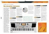 Das interaktive Instrument. Das interaktive Instrument. - Roland ...