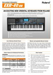 an exciting new oriental keyboard from roland - Roland Keyboard Club
