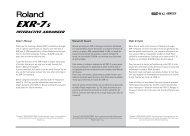 Owner's Manual Manual del Usuario Mode d'emploi - Roland ...