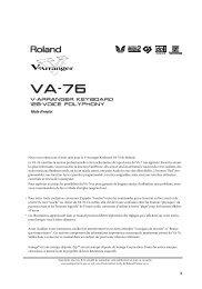 VA-76 – Mode d'emploi - Roland