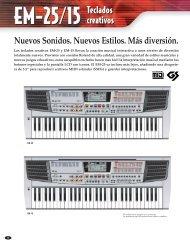 creativos Teclados creativos Nuevos Sonidos. Nuevos Estilos. Más ...