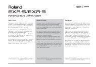 EXR-5/EXR-3 - Roland