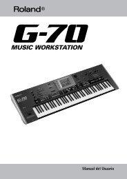 G-70, Manual del Usuario - Roland Keyboard Club