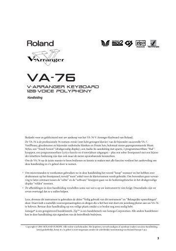 V-Arranger Keyboard 128-voice polyphony - Roland