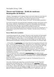 Zur Kritik der modernen Homöopathie - Roland Methner