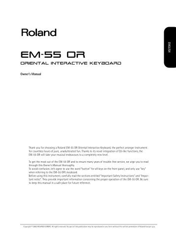 EM-55 OR - Roland Keyboard Club