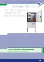 Markt- und Festplatz- Verteiler-Schränke - ELEKTRA Tailfingen
