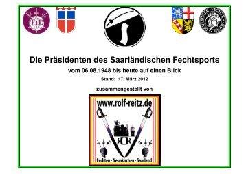 Die Präsidenten des Saarländischen Fechtsports - Rolf Reitz