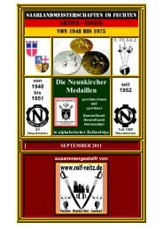 Die Neunkircher Medaillen - Rolf Reitz