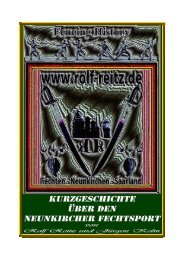 Der Neunkircher Fechtsport nach dem zweiten Weltkrieg - Rolf Reitz