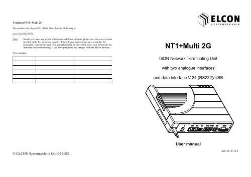 ELCON NT1 MULTI DRIVERS