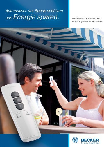 Automatisch vor Sonne schützen und Energie sparen. - Rolladen ...