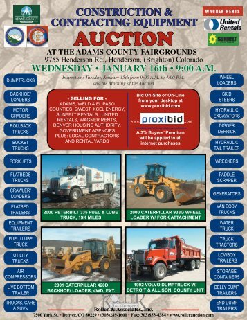 AUCTION - Roller Auctioneers