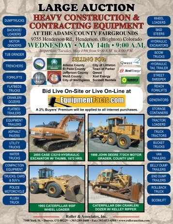LARGE AUCTION - Roller Auctioneers