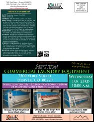 auction commercial laundry equipment - Roller Auctioneers
