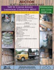 9605 W. Colfax Avenue Lakewood, Colorado 80215 Wednesday ...