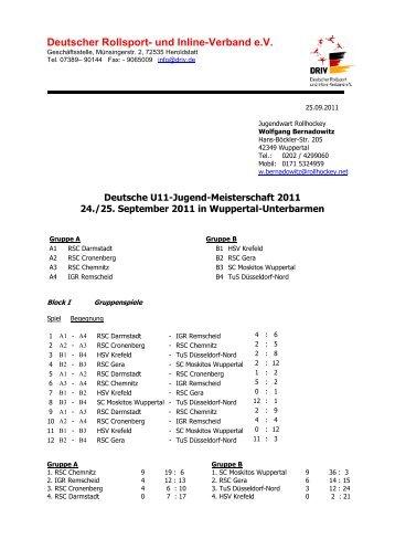 Deutsche U11-Jugend-Meisterschaft 2011 - Rollhockey