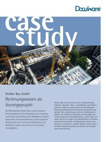 Rechnungswesen als Vorzeigeprojekt - Dreßler-Bau
