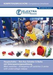 Kompetenzbroschüre Hauptschalter - ELEKTRA Tailfingen