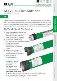 Produktbeschreibung SE-PLUS Motoren - Rollo Rieper