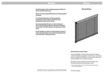montageanleitung plissee mit universal klemmriegel rollo laden. Black Bedroom Furniture Sets. Home Design Ideas