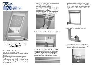 manu l rolety nano rollo pdf. Black Bedroom Furniture Sets. Home Design Ideas
