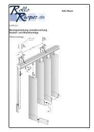 Montageanleitung Lamellenvorhang Decken- und ... - Rollo Rieper