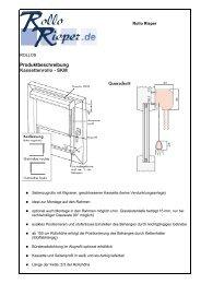 Produktbeschreibung Kassettenrollo - SKM - Rollo Rieper