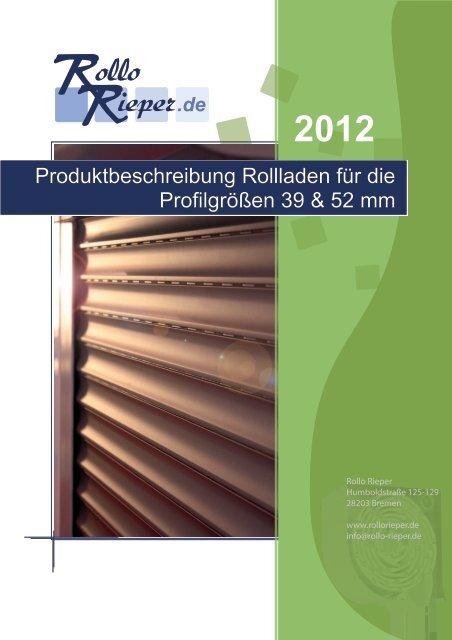 Produktbeschreibung - Rollo Rieper